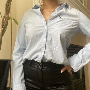ABERCROMBIE Blue Button Down Long Sleeve Shirt